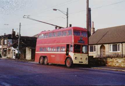 Huddersfield Trolleybus 619 at Outlane